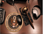 US Appeals court seal and gavel