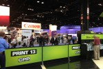 The crowds at PRINT 13 were large at the open of the show, and everyone seemed interested in digital technology.