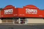 "Staples will be using its own brick-and-mortar stores to fulfill ""Staples Rush"" orders."