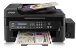 "Epson recently released in Western Europe the EcoTank L555, one of a growing number of what Epson terms ""high-capacity ink tank models"""