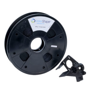 MakeShaper's flexible TPU filament spool and adapter