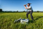 """It seems the classic printer-smashing scene from """"Office Space"""" is popular enough to be emulated in the world of stock photos, such as this one."""