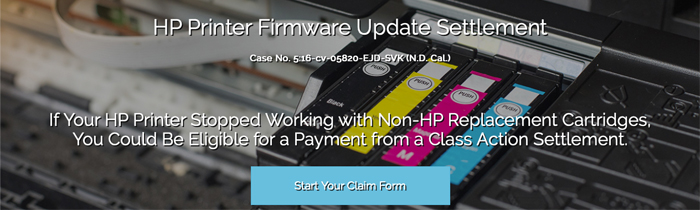Notice Provided to Settlement Class in HP Printer Firmware Update